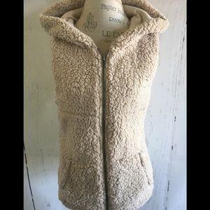 Shearling Hoodie Vest